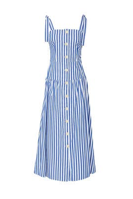 Striped Sleeveless Cotton Dress by Christian Pellizzari