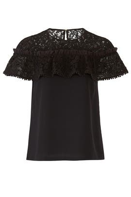 Collection Ruffle Lace Top by Draper James