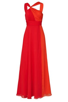 Colorblock Halter Gown by Jill Jill Stuart