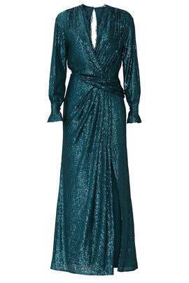 Sequin Drape Front Gown by Jonathan Simkhai