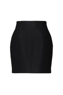 Quilted Faux Leather Skirt by Louna