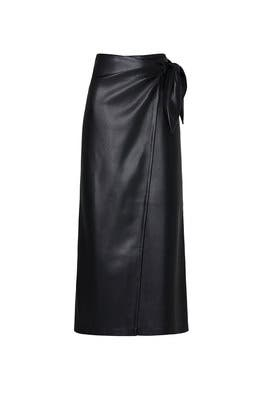 Amas Faux Leather Wrap Skirt by Nanushka