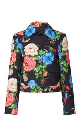 Floral Printed Jacket by Nina Ricci