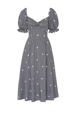 Gingham Naomi Dress by Rejina Pyo
