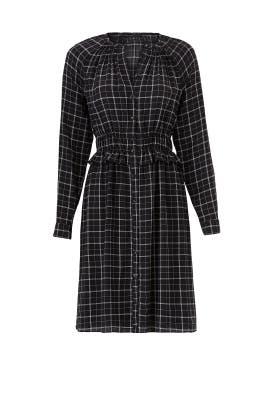 Long Sleeve Plaid Dress by Rebecca Taylor