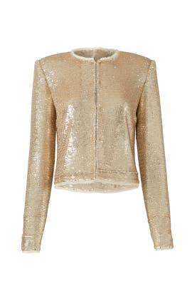 Sequined Gold Jacket by Rachel Zoe
