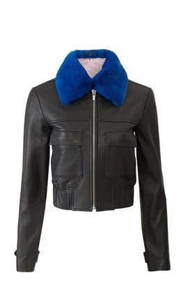 Faux Fur Andre Leather Jacket by VEDA