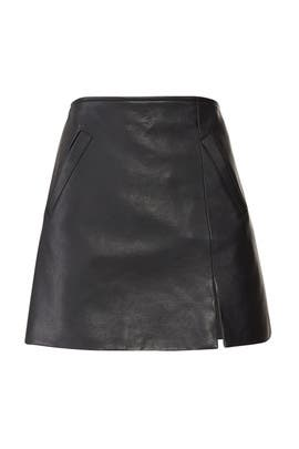 Latch On Faux Leather Mini Skirt by BlankNYC
