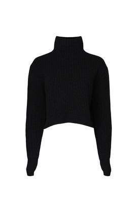 Cropped Turtleneck Sweater by Divine Heritage