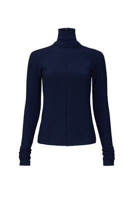 Chevron Striped Turtleneck by Haider Ackermann