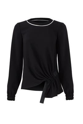 Ribbed Collar Top by Jason Wu
