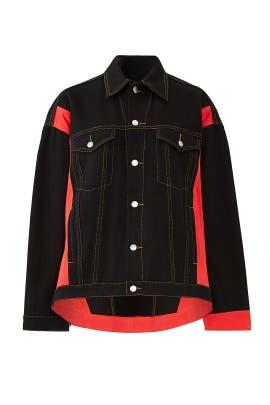 Black Oversized Denim Jacket by Koché