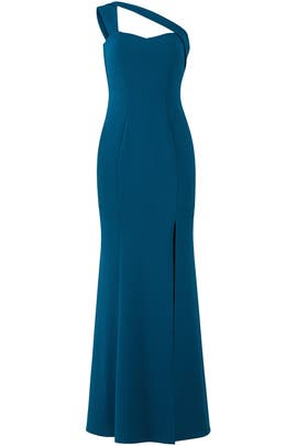 One Shoulder Gown by LM Collection