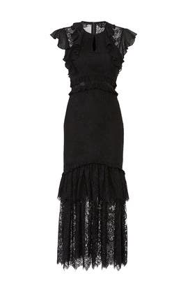Ruffle Illusion Lace Dress by Three Floor