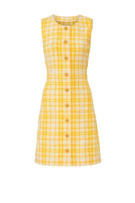 Yellow Plaid Dress by Tory Burch