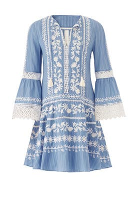 Blue Gabriella Dress by Tory Burch