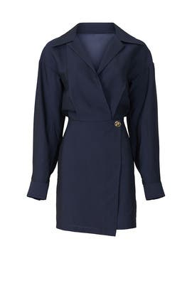 Collar Wrap Dress by VINCE.