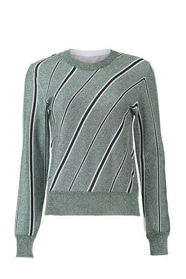 Striped Lurex Sweater by Cedric Charlier