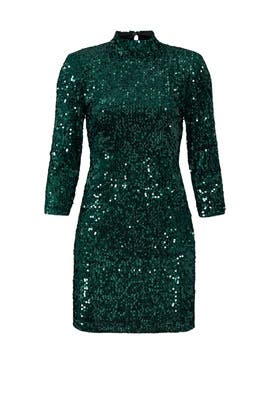 Green Velvet Sequin Sheath by Donna Morgan