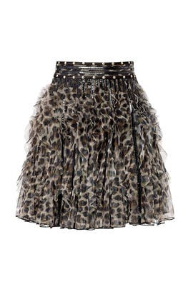 Wild Ninja Ruffle Skirt by Just Cavalli