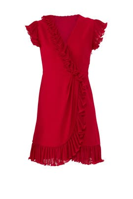 Red Flutter Ruffle Dress by Jill Jill Stuart