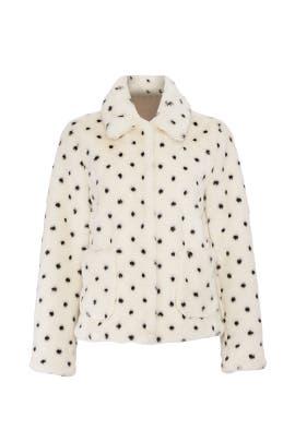 Dot Faux Fur Coat by La Vie Rebecca Taylor
