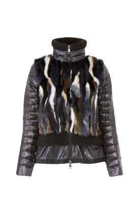 Geela Faux Fur Puffer Jacket by Sosken