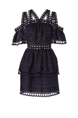 Navy Lace Envy Dress by Self-portrait