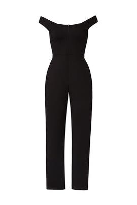 Black Off The Shoulder Jumpsuit by Susana Monaco
