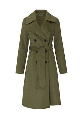 Green Stark Coat by Wish