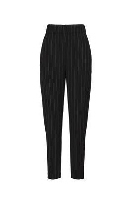 Black Pinstripe Pants by GANNI
