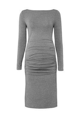 Grey Pleated Maternity Dress by Ingrid & Isabel