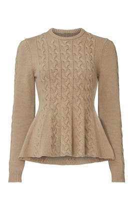 Camel Peplum Sweater by Jason Wu Collective