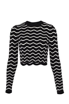 Textured Wave Pullover by Milly
