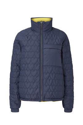 Heart Quilted Puffer Coat by Opening Ceremony