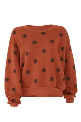 Orange Polka Dot Sweatshirt by Sundry