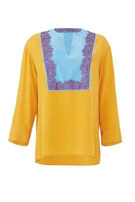 Golden Claire Tunic by Tory Burch
