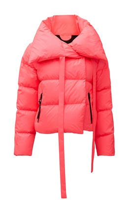 Pink Neon Puffer Jacket by Bacon