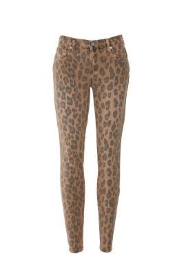 The Reade Crop Leopard Jeans by BlankNYC