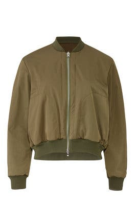 Military Bomber Jacket by Jil Sander Navy