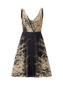 Gold Brush Dress by Josie Natori