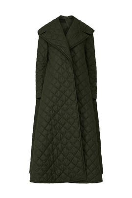 Military Green Quilted Coat by Sara Battaglia