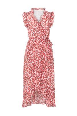 Ruffle Leopard Wrap Dress by Slate & Willow