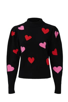 Hearts Mockneck Sweater by kate spade new york