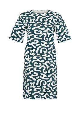 Emerald Markers Print Dress by Marni