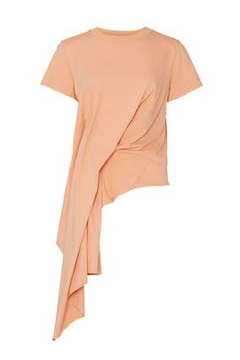 Draped Cap Sleeve T-Shirt by Marques' Almeida