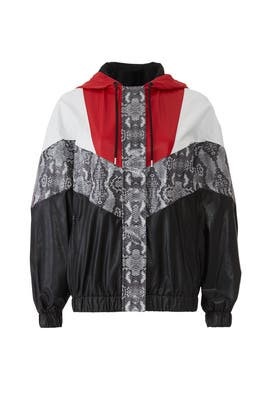 Snakeskin Colorblock Jacket by MSGM