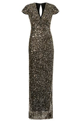 Midnight Sequin Stars Gown by Nicole Miller