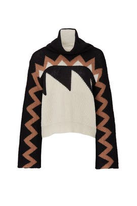 Chevron Turtleneck Sweater by (nude)