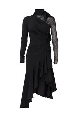 Black Lace Paneled Dress by Philosophy di Lorenzo Serafini